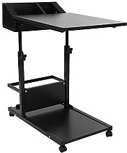 YXZQ Shelf, Overbed Table,2-Tier End Table C