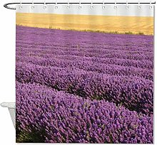 YY-one Fabric Shower Curtain With Hooks, Lavender,
