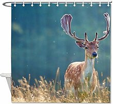 YY-one Fabric Shower Curtain with Hooks- Lovely