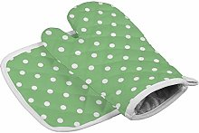 YY-one Green Apple Polka Dot Insulation Gloves