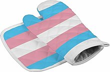 YY-one Transgender Pride Oven Mitts,Professional
