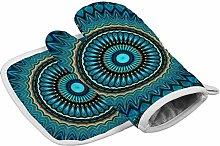 YY-one Turquoise Teal Green Mandala Oven