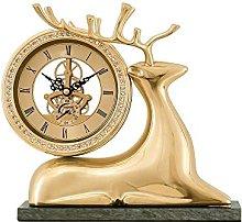 YYAI-HHJU Auspicious Fireplace Clock Transparent