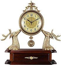 YYAI-HHJU Deer Head Shaped Fireplace Clock With