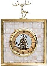 YYAI-HHJU Elk Metal Table Clock (Home Decoration