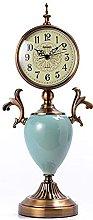 YYAI-HHJU Fireplace Clock With Ceramic Decoration