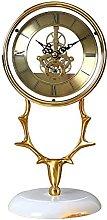 YYAI-HHJU Metal Shelf Clock Antique Table Clock