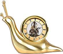 YYAI-HHJU Silent Table Clock Copper Fireplace