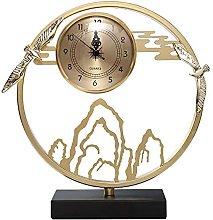 YYAI-HHJU Silent Table Clock Copper Table Clocks