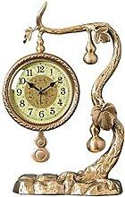 YYAI-HHJU Silent Table Clock With Pendulum