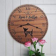 YYAI-HHJU Wooden Wall Clock Home Decor For Shelves