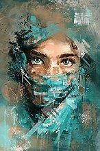 YYAYA.DS Print on canvas wall art Abstract Woman