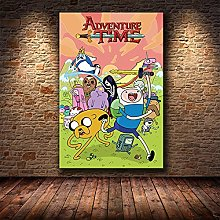 YYAYA.DS Print on canvas wall art Adventure Time