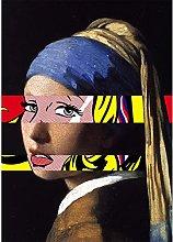 YYAYA.DS Print on canvas wall art Funny Girl with