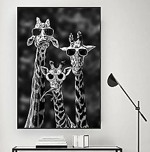 YYAYA.DS Print on canvas wall art Giraffes with