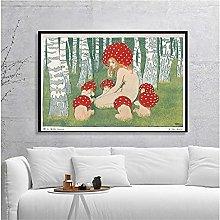 YYAYA.DS Print on canvas wall art Mother Mushroom
