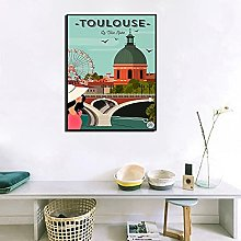 YYAYA.DS Print on canvas wall art Poster Toulouse