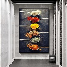 YYAYA.DS Print on canvas wall art Spices in Spoons