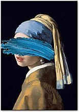 YYAYA.DS Print on canvas wall art the Girl with a