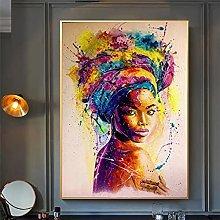 YYAYA.DS Wall Art Prints Abstract Girl Wall