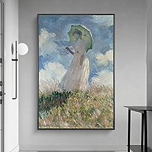 YYAYA.DS Wall Art Prints Woman with a Parasol by
