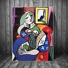 YYAYA.DS Wall Art Prints Woman with Book by