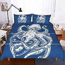 YYDD 3D Octopus Printing 3 Piece Set Bedding