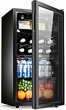 YYDD Beverage Refrigerator and Cooler - 95L, 37DB,