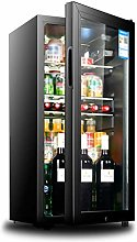 YYDD Drinks Fridge with Double-layer Glass Door