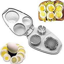YYDZ Egg slicer □ 3-in-1 Egg Slicer stainless