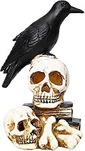 YYDZ Halloween Decoration Horror Props Crow Resin