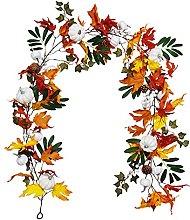 YYDZ Halloween Maple Leaf Rattan Wall Hanging