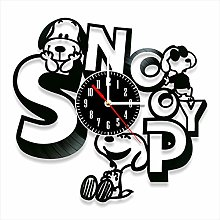 YYIFAN 12 Inch Snoopy Vinyl Record Wall Clock, 3D