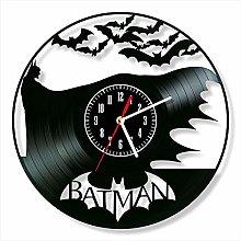 YYIFAN 12 Inch Vinyl Record Batman Wall Clock, 3D