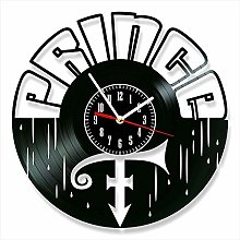 YYIFAN 12 Inch Vinyl Record Wall Clock,Prince 3D