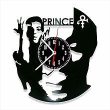 YYIFAN 12 Inch Vinyl Record Wall Clock Prince, 3D