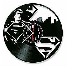 YYIFAN 12 Inch Vinyl Record Wall Clock Superman,