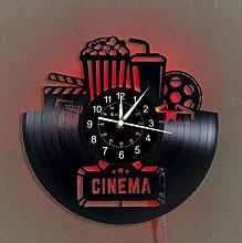 YYIFAN LED Lighting Vinyl Record Wall Clock,