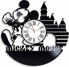 YYIFAN Mickey Mouse 30cm Disney Vinyl Wall Clock,