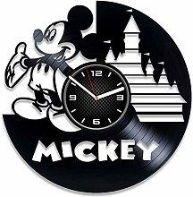 YYIFAN Mickey Mouse Vinyl Clock Disney Gift For