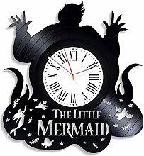 YYIFAN The Little Mermaid Vinyl Clock Disney