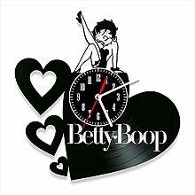 YYIFAN Vinyl Clock For Betty Boop Fan lovers, Wall