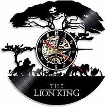 YYIFAN Vinyl Music Record Wall Clock 12 Inch The