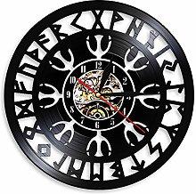 YYIFAN Vinyl Music Record Wall Clock 12
