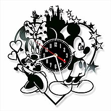 YYIFAN Vinyl Record Clock Mickey and Minnie Mouse