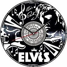 YYIFAN Vinyl Record Wall Clock 12In Elvis Presley,