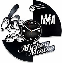 YYIFAN Vinyl Record Wall Clock Mickey Mouse,