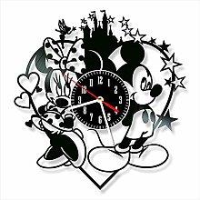 YYIFAN Vinyl Wall Clock art Decor Home Wall Clock