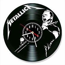 YYIFAN Vinyl Wall Clock art Decor Metallica Home