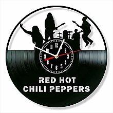 YYIFAN Vinyl Wall Clock art Decor Red Hot Chili